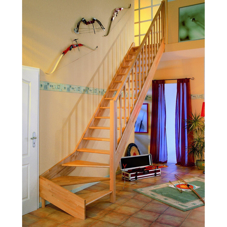 dolle wangentreppe paris 1 4 gewendelt ohne setzstufen fichte kaufen bei obi. Black Bedroom Furniture Sets. Home Design Ideas