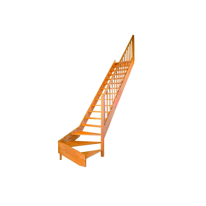 dolle wangentreppe paris 1 4 gewendelt ohne setzstufen buche kaufen bei obi. Black Bedroom Furniture Sets. Home Design Ideas