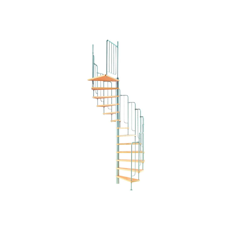 Spindeltreppe Barcelona Holz Metall Mit Gelander O 138 Cm Kaufen Bei Obi