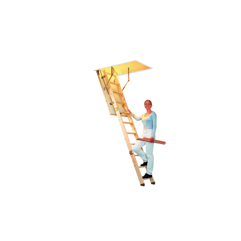 Dolle  Bodentreppe kompakt 3-teilig mit Fußkappen 140 cm x 70 cm
