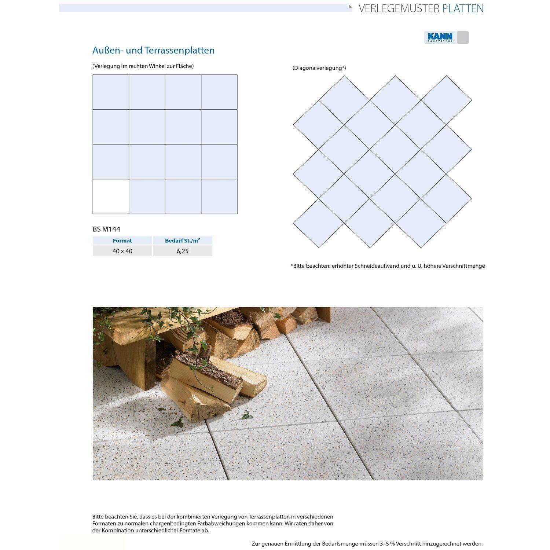 Terrassenplatte Beton Palermo GrauNuanciert X X Cm Kaufen - Betonplatten 40x40x5 grau