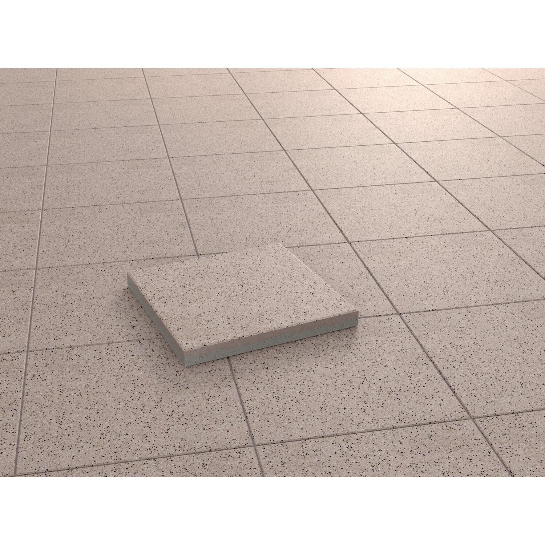 Terrassenplatte Beton Kreta Terracotta Kugelgestrahlt Cm X Cm - Terrassenplatten 40x40 terracotta