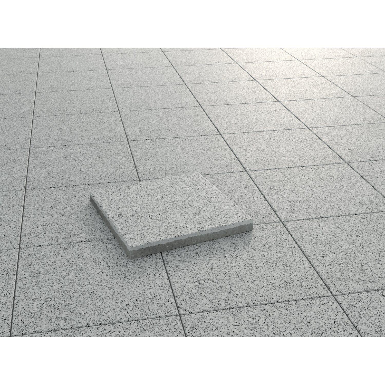 Kann Terrassenplatte Beton Davos Granitfarben geschliffen 40 cm x 40 cm x 3,8 cm