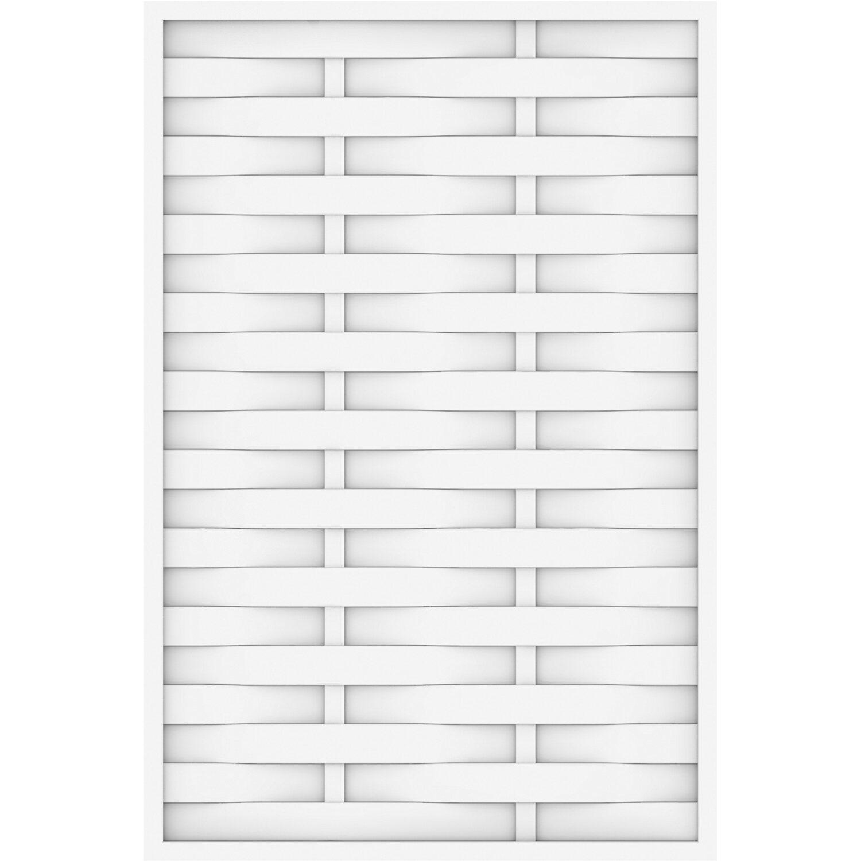 Sichtschutzzaun Element Longlife Romo gerade Weiß 120 cm x 180 cm