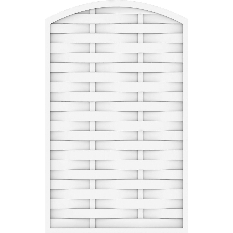 Sichtschutzzaun Element Longlife Romo rund Weiß 120 cm x 180 196