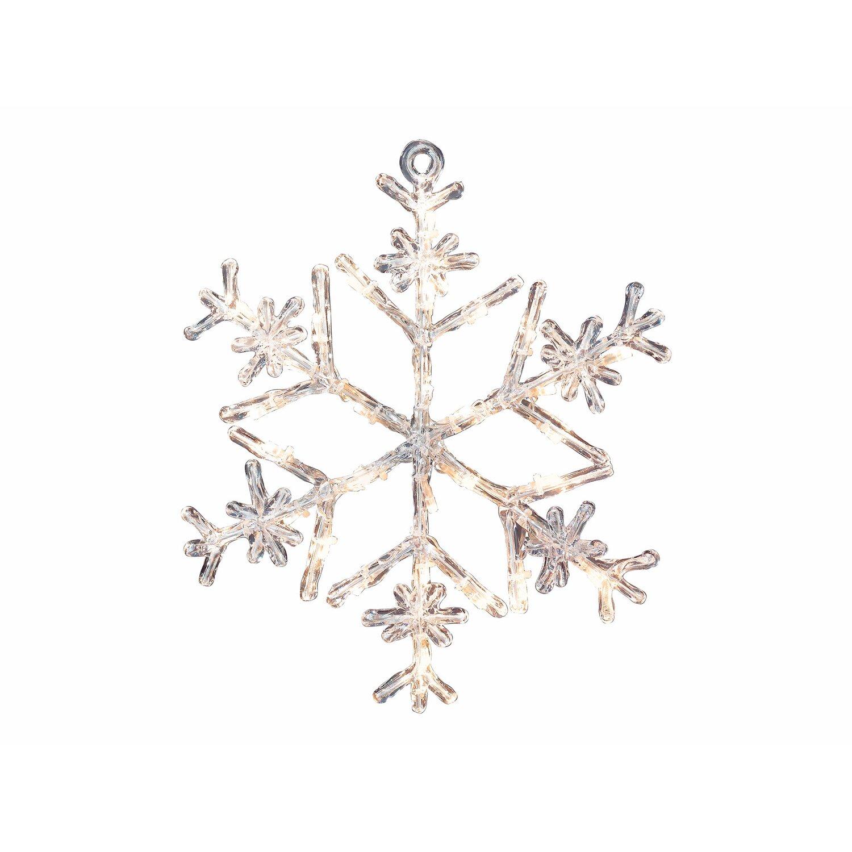 LED-Schneeflocke 30 cm Acryl Warmweiß Typ 3 kaufen bei OBI