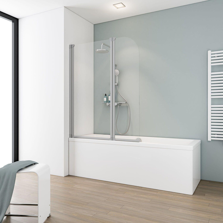 schulte badewannenaufsatz 2 teilig echtglas alunatur kaufen bei obi. Black Bedroom Furniture Sets. Home Design Ideas