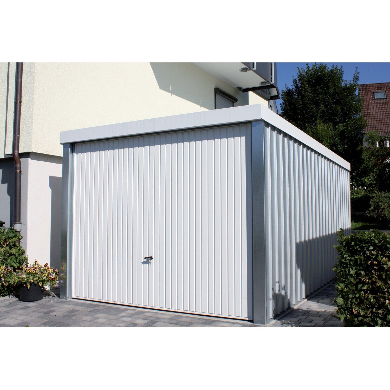 Fertiggarage aus Stahl verzinkt Weiß 234 cm x 255 cm x 586 cm kaufen ...