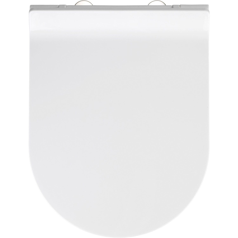 mit Absenkautomatik WENKO Premium WC-Sitz Habos Thermoplast weiß