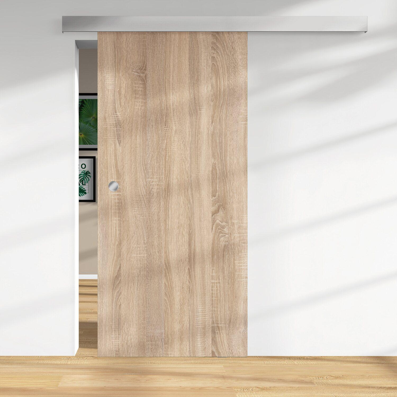 Holzschiebetür 28 mm Melamindekor Eiche geplankt 2060 x 940 mm