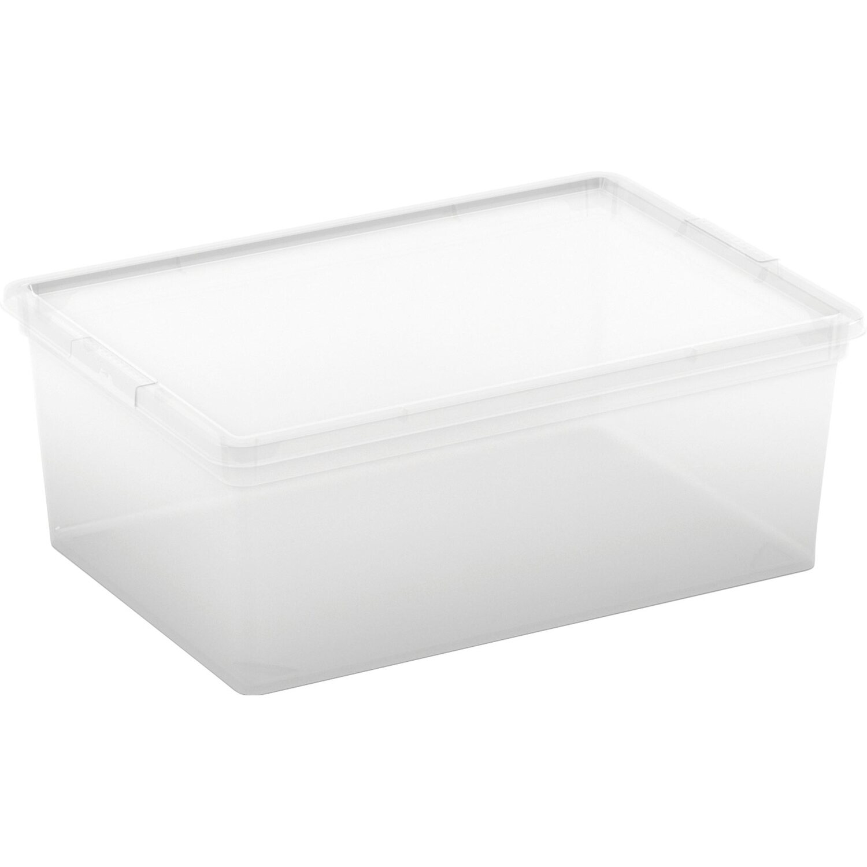 Aufbewahrungsbox C S mit Deckel Transparent