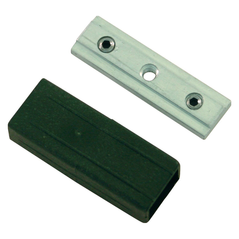 Gardinia Profilverbinder Luxor Aluminium-Schwarz
