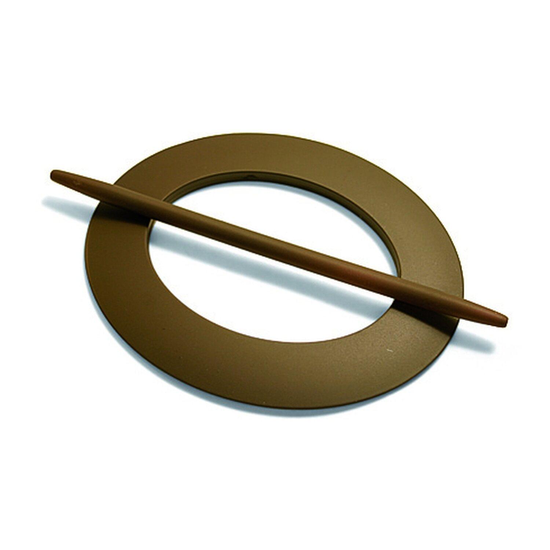 Gardinia Dekoring Oval Dunkelbraun 15 cm x 18 cm