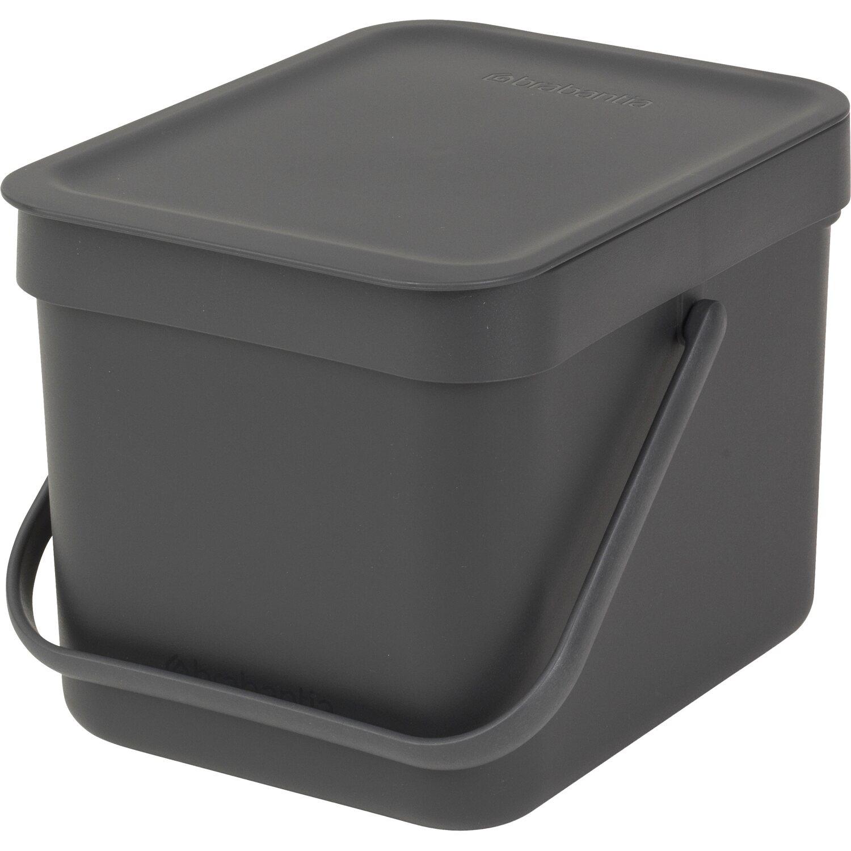 Brabantia Abfallbehälter Sort Go 6 L Grey Mit Wandhalterung