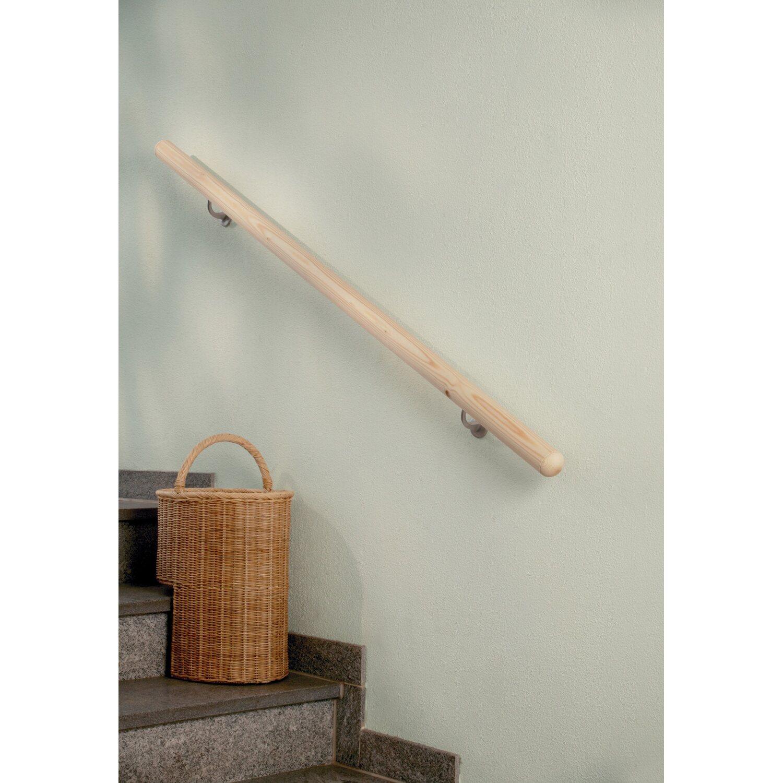 handlauf komplettset fichte roh 1500 mm inkl befestigungsmaterial kaufen bei obi. Black Bedroom Furniture Sets. Home Design Ideas