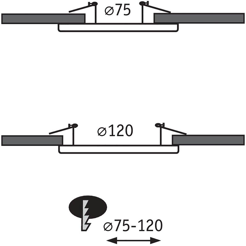 Adapter für Einbaudurchmesser von 75-120 mm auf 68-70 mm Eisen gebürstet