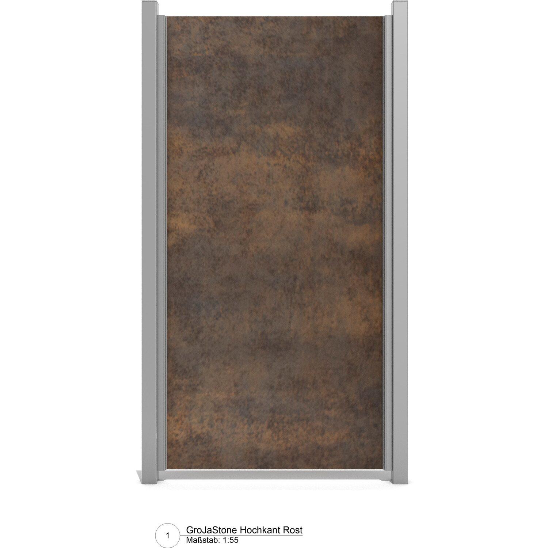 Groja Stonefence Keramik Sichtschutzzaun 90 Cm X 180 Cm Granit