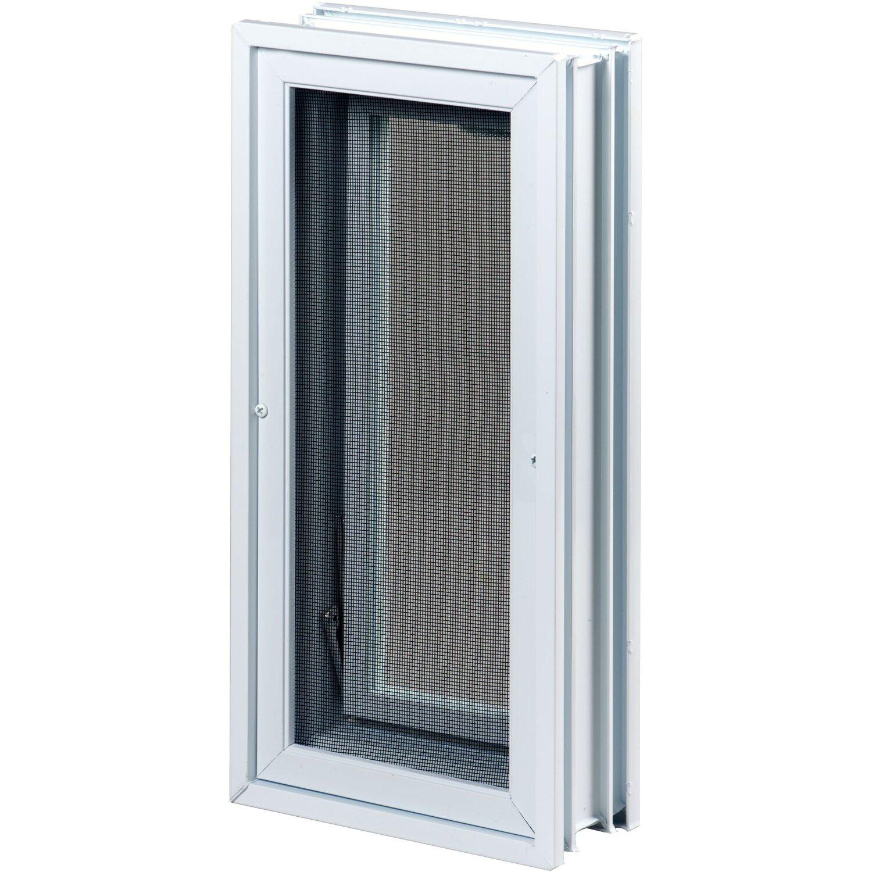 Luftungsfenster Mit Fliegengitter Anstatt 2 Glasbausteine 19 Cm X