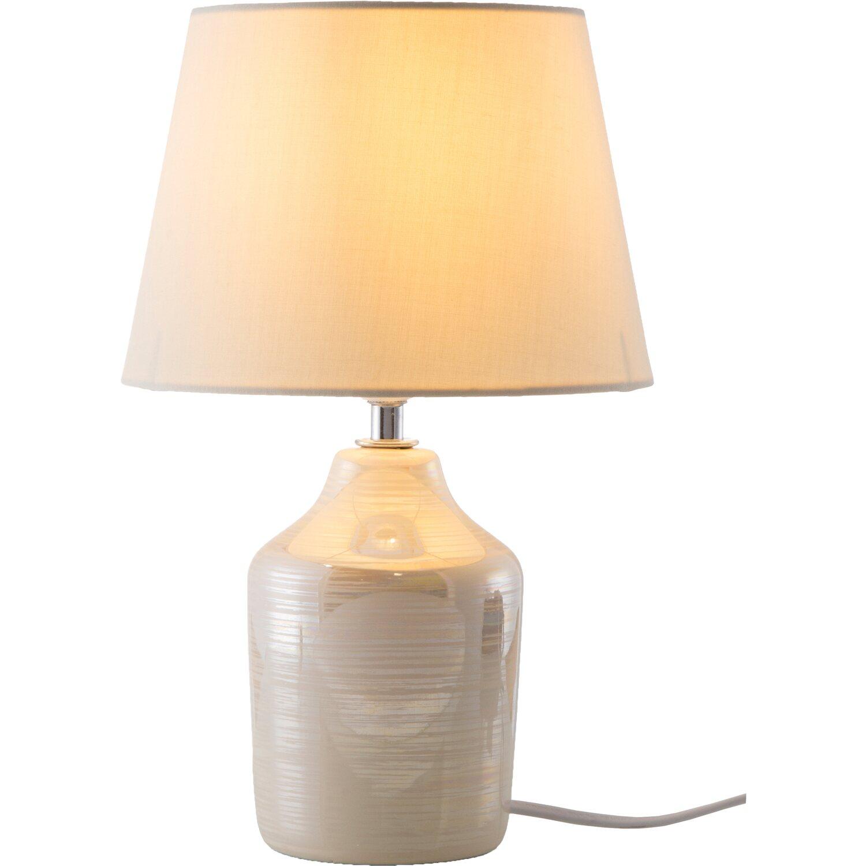 Nino Leuchten Nachttischlampe Julia Creme E14 EEK: E-A++   Lampen > Tischleuchten > Nachttischlampen   Nino Leuchten