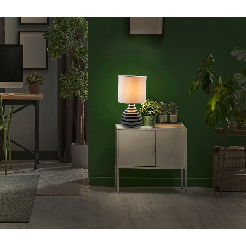 Nino Leuchten Nachttischlampe Rachel Schwarz-Weiß E14 EEK: E-A++   Lampen > Tischleuchten > Nachttischlampen   Nino Leuchten