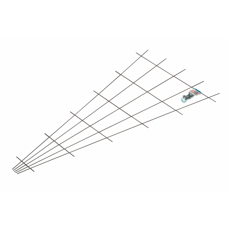 OBI Fächerspalier 150 cm x 75 cm Braun