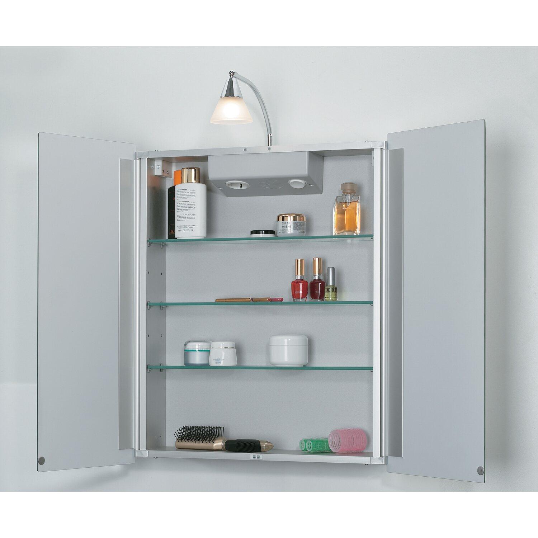 Sieper Spiegelschrank Aluhit 53 cm Alu EEK: D-C kaufen bei OBI