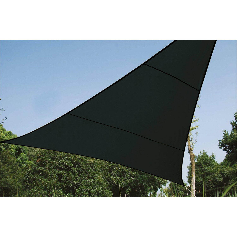 Perel Dreieckssonnensegel  wasserdurchlässig 3,6 x 3,6 x 3,6 m Dunkelgrau | Garten > Sonnenschirme und Markisen > Sonnensegel | Perel