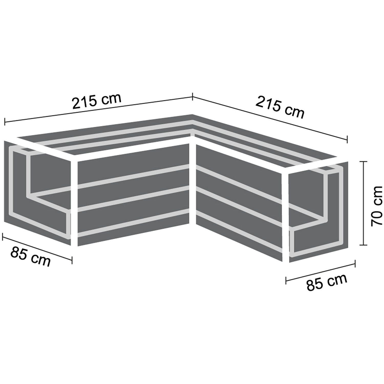 Perel Schutzhulle Fur L Formiges Gartenmobel Lounge Set 215 X 215 Cm Kaufen Bei Obi