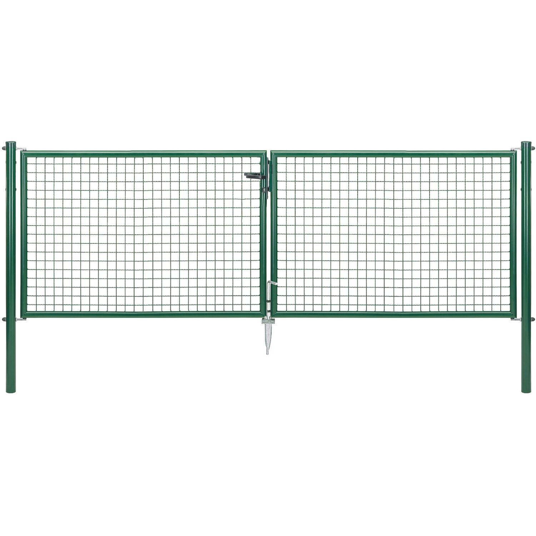 GAH Alberts Doppeltor für Maschendraht- und Fix-Clip Pro-Zaun Grün 100 cm x 300 cm