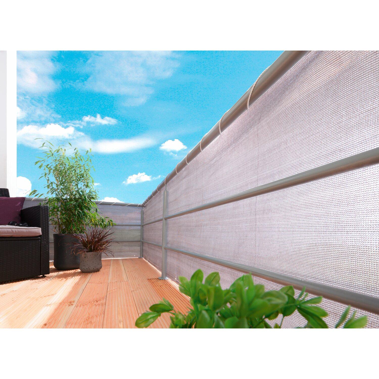 obi balkonbespannung grau 500 cm x 90 cm kaufen bei obi, Hause und Garten