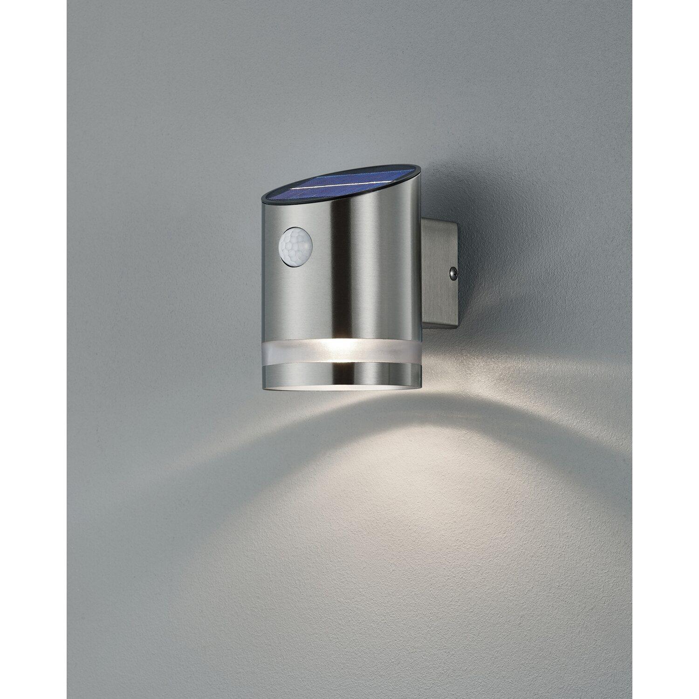 Trio LED-Außenwandleuchte Salta mit Solarmodul Nickel matt   Lampen > Aussenlampen   Reality by Trio
