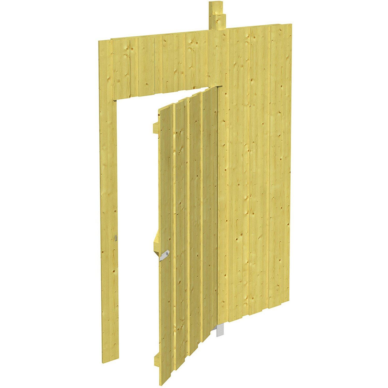 Skan Holz Seitenwand Deckelschalung 141 x 220 cm inkl. Tür Grün imprägniert   Baumarkt > Garagen und Carports > Carports   Skan Holz