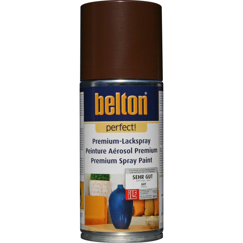 belton Belton Perfect Premium-Lackspray Dunkelbraun seidenmatt 150 ml