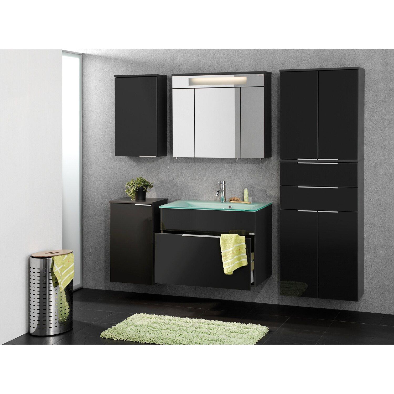 spiegelschrank 80 cm bad spiegelschrank rima 3 t rig mit led aufbauleuchte 80 cm breit eiche. Black Bedroom Furniture Sets. Home Design Ideas