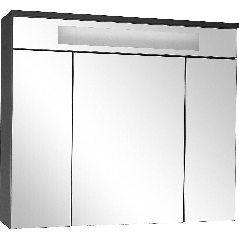 Fackelmann spiegelschrank eek a kara 80 cm anthrazit for Spiegelschrank obi