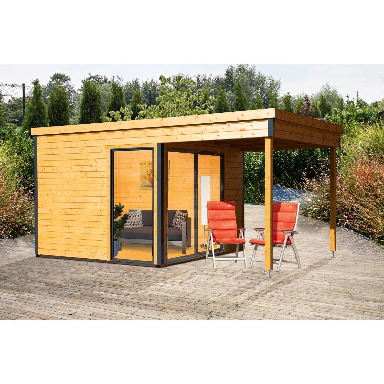 W Finnhaus Gartenhaus Studio 44 B Natur Grau Bxt 522 X 320 Cm Ca 200cm Lounge Kaufen Bei Obi