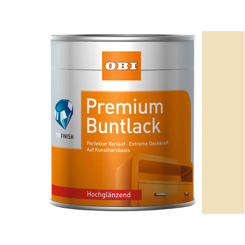 OBI  Premium Buntlack Hellelfenbein hochglänzend 375 ml