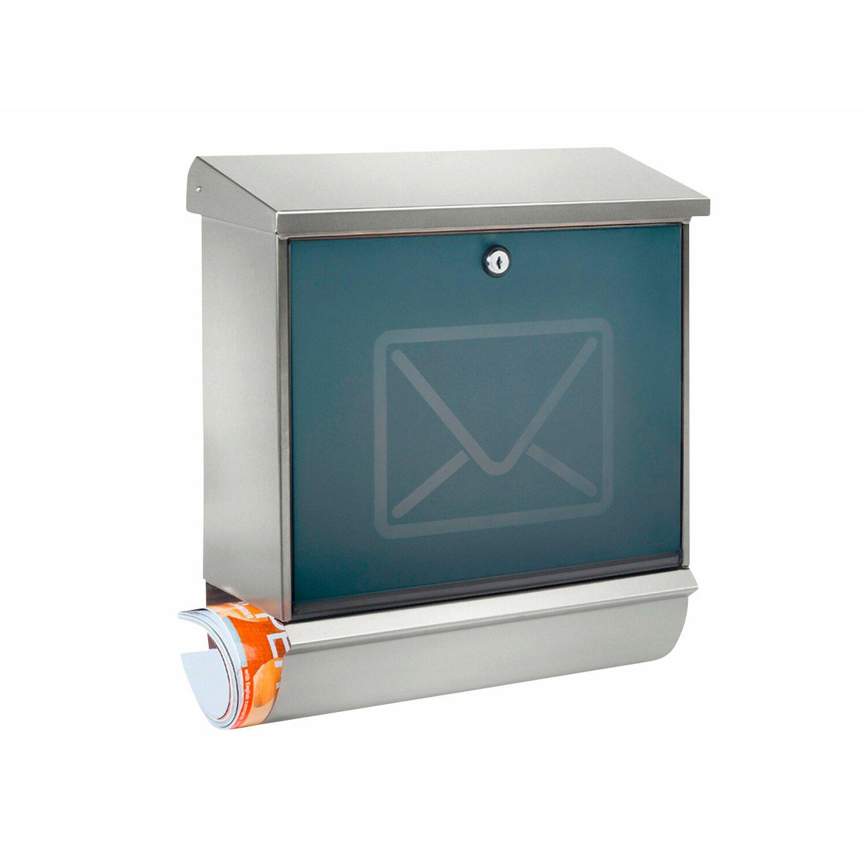 Burg Wächter Briefkasten + Box Set Lucca 37130 Ni Letter Edelstahl