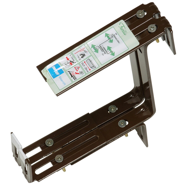OBI Balkonkastenhalter Braun 3-dimensional verstellbar