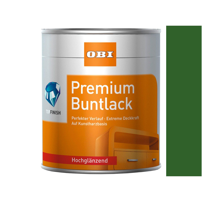 OBI  Premium Buntlack Laubgrün hochglänzend 125 ml
