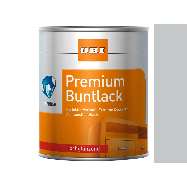 OBI  Premium Buntlack Lichtgrau hochglänzend 125 ml