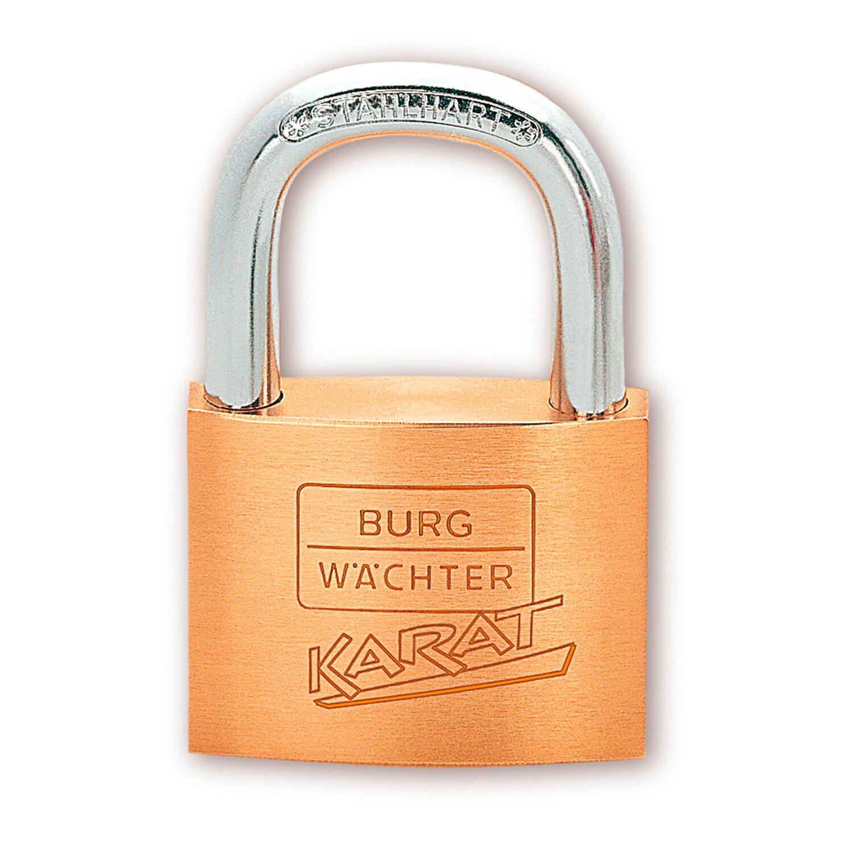 Burg Wächter Zylinder-Vorhängeschloss Karat 217 30/6 SB