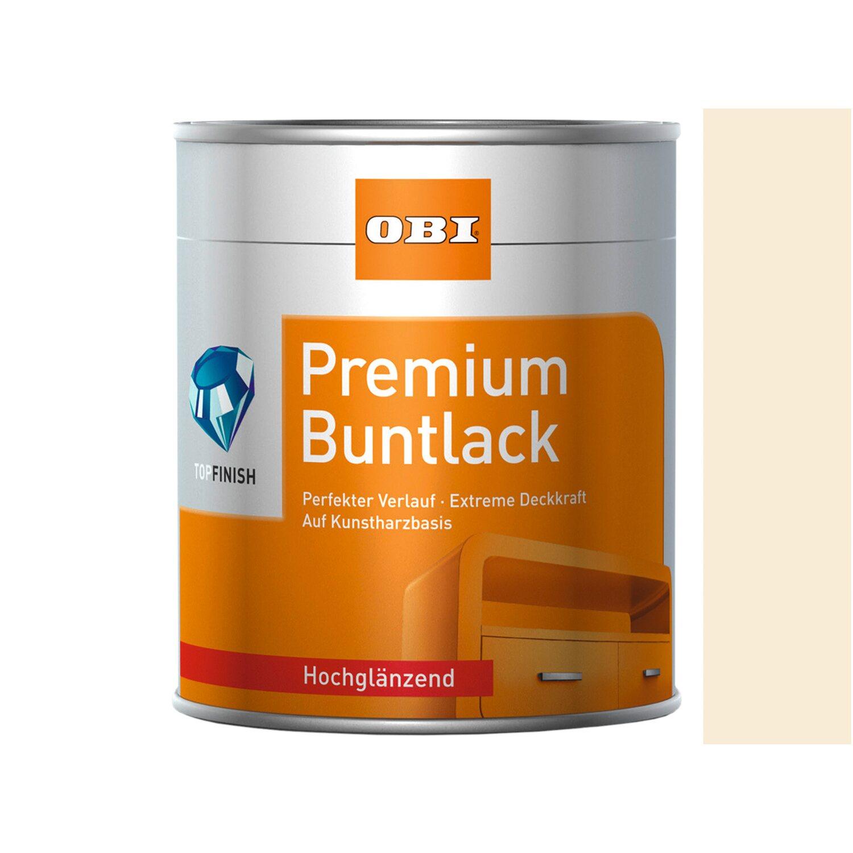 OBI  Premium Buntlack Cremeweiß hochglänzend 125 ml