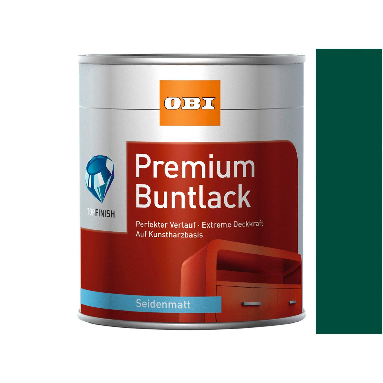 OBI  Premium Buntlack Moosgrün seidenmatt 125 ml