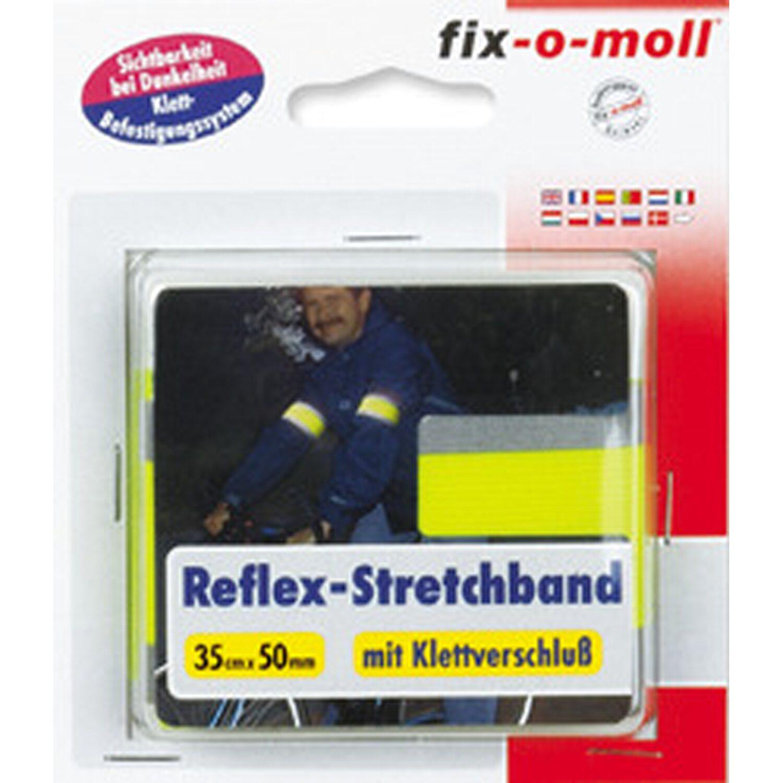 fix-o-moll Reflex-Stretchband mit Klettverschluß Neongelb 35 cm x 50 mm