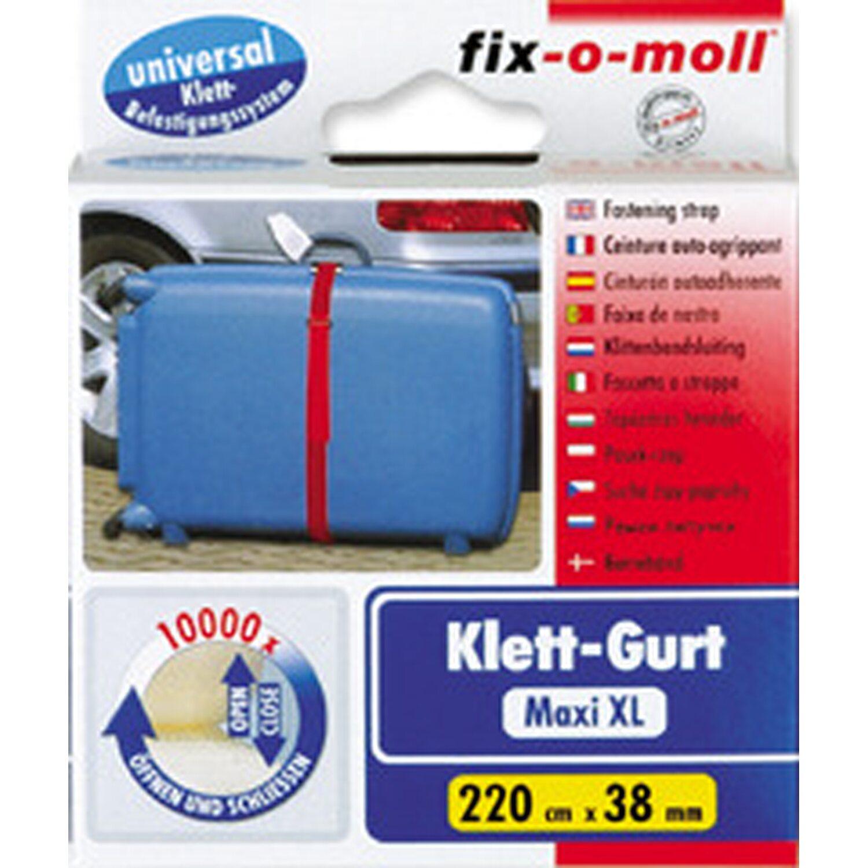 fix o moll fix-o-moll Klett-Gurt 220 cm x 38 mm Rot