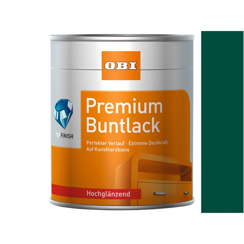 OBI  Premium Buntlack Moosgrün hochglänzend 125 ml