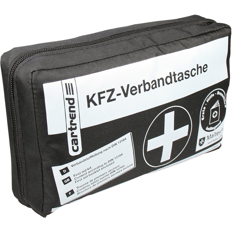 cartrend kfz verbandtasche schwarz din 13164 kaufen bei obi. Black Bedroom Furniture Sets. Home Design Ideas
