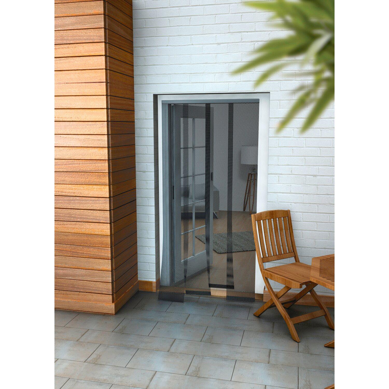 obi lamellenvorhang f r t ren anthrazit 220 cm x 95 cm. Black Bedroom Furniture Sets. Home Design Ideas
