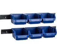 LUX Lagersichtbox 6 Stück blau Größe 2